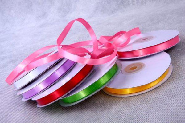 ленты для украшения чайного букета